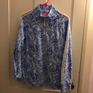 Lilly Pulitzer Skipper Popover In Turtley Awesome